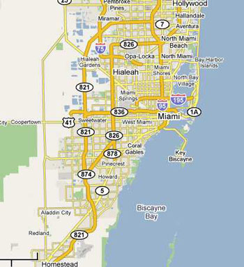 dumpster service map, Miami, Florida